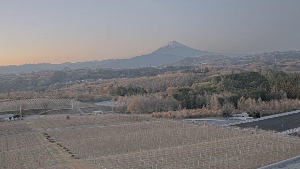 富士山 ライブカメラ(中伊豆ワイナリーシャトーT.S)と雨雲レーダー/静岡県伊豆市