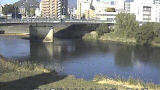 白川・長六橋ライブカメラと雨雲レーダー/熊本県熊本市中央区