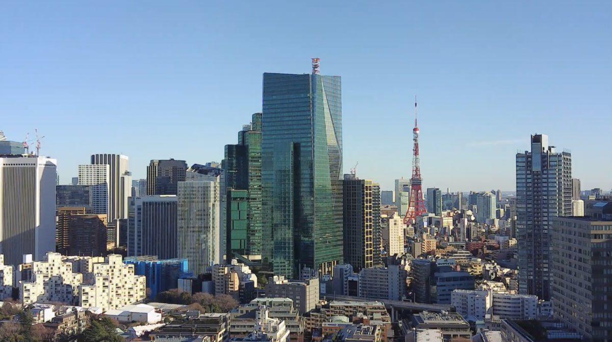 東京タワー ライブカメラ(六本木一丁目方面)と気象レーダー/東京都港区
