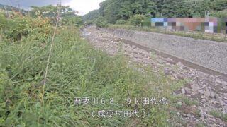 吾妻川・田代橋ライブカメラと雨雲レーダー/群馬県嬬恋村田代