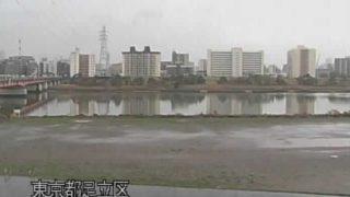 荒川・西新井橋上流 ライブカメラ・水位と雨雲レーダー/東京都足立区
