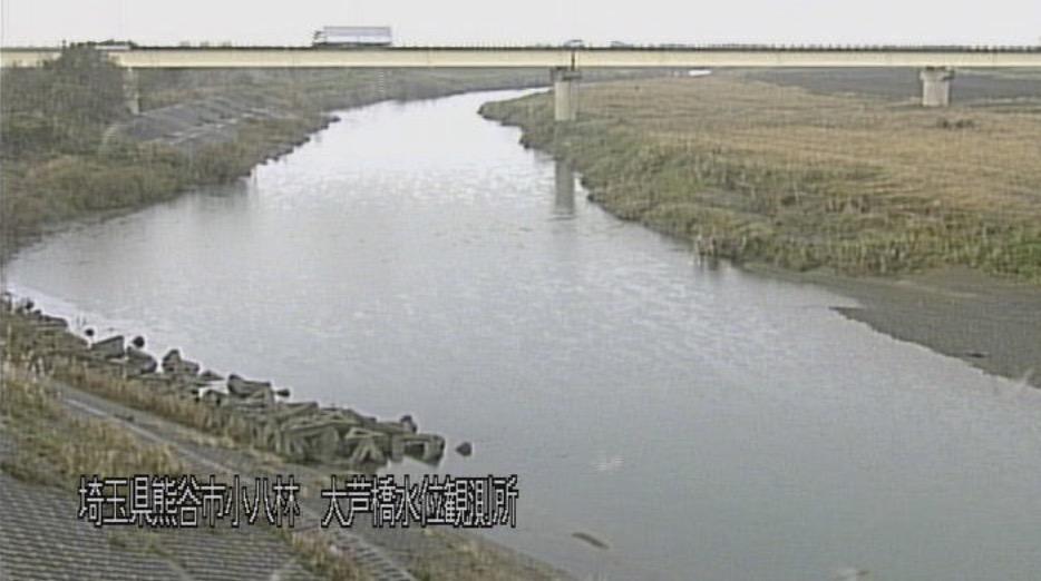 荒川・大芦橋 ライブカメラ・水位と雨雲レーダー/埼玉県熊谷市