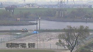 荒川・笹目橋 ライブカメラ・水位と雨雲レーダー/埼玉県和光市