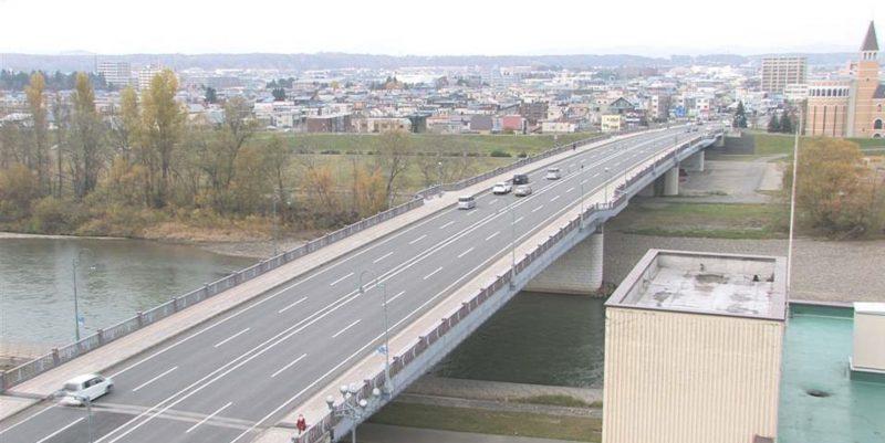 石狩川・新橋 ライブカメラ(STV)と雨雲レーダー/北海道旭川市