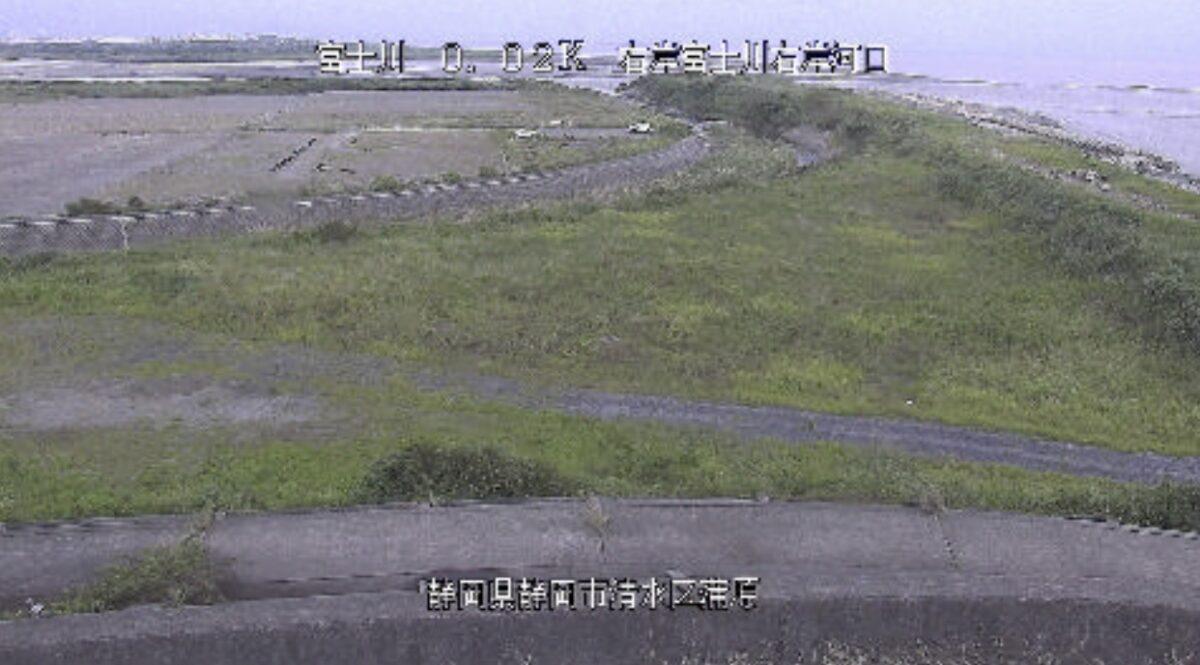 富士川・右岸河口ライブカメラと雨雲レーダー/静岡県静岡市清水区