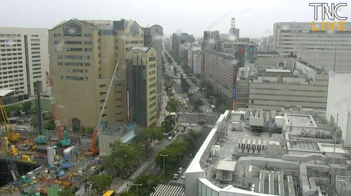 渡辺通り・福岡県道602号 ライブカメラ(TNC)と雨雲レーダー/福岡県福岡市中央区