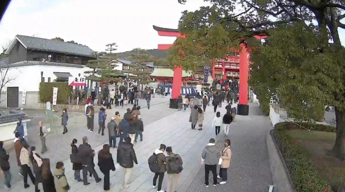 停止中:伏見稲荷大社 ライブカメラと雨雲レーダー/京都府京都市