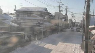 朝市通りライブカメラと雨雲レーダー/秋田県五城目町