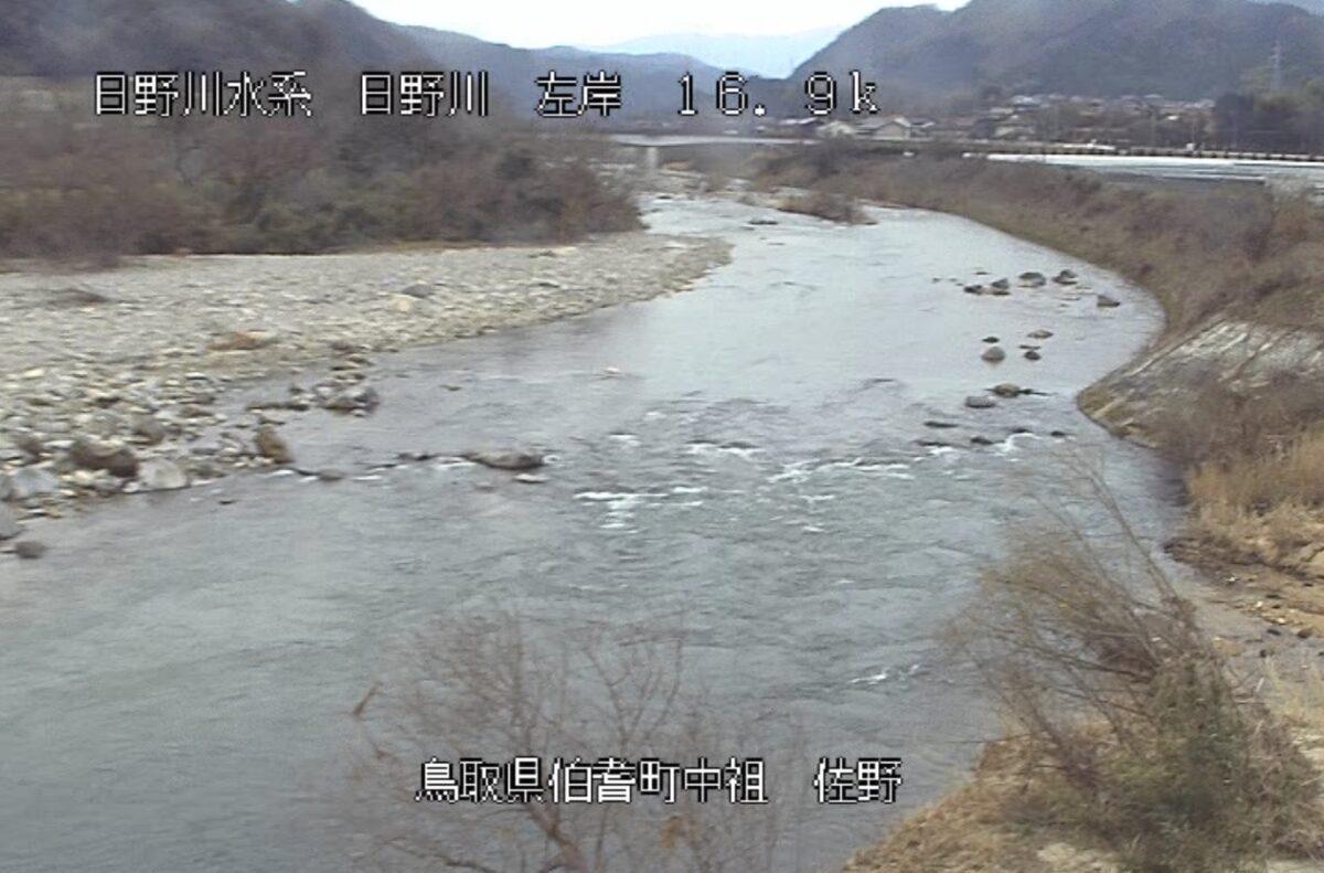 日野川・佐野ライブカメラと雨雲レーダー/鳥取県伯耆町中祖