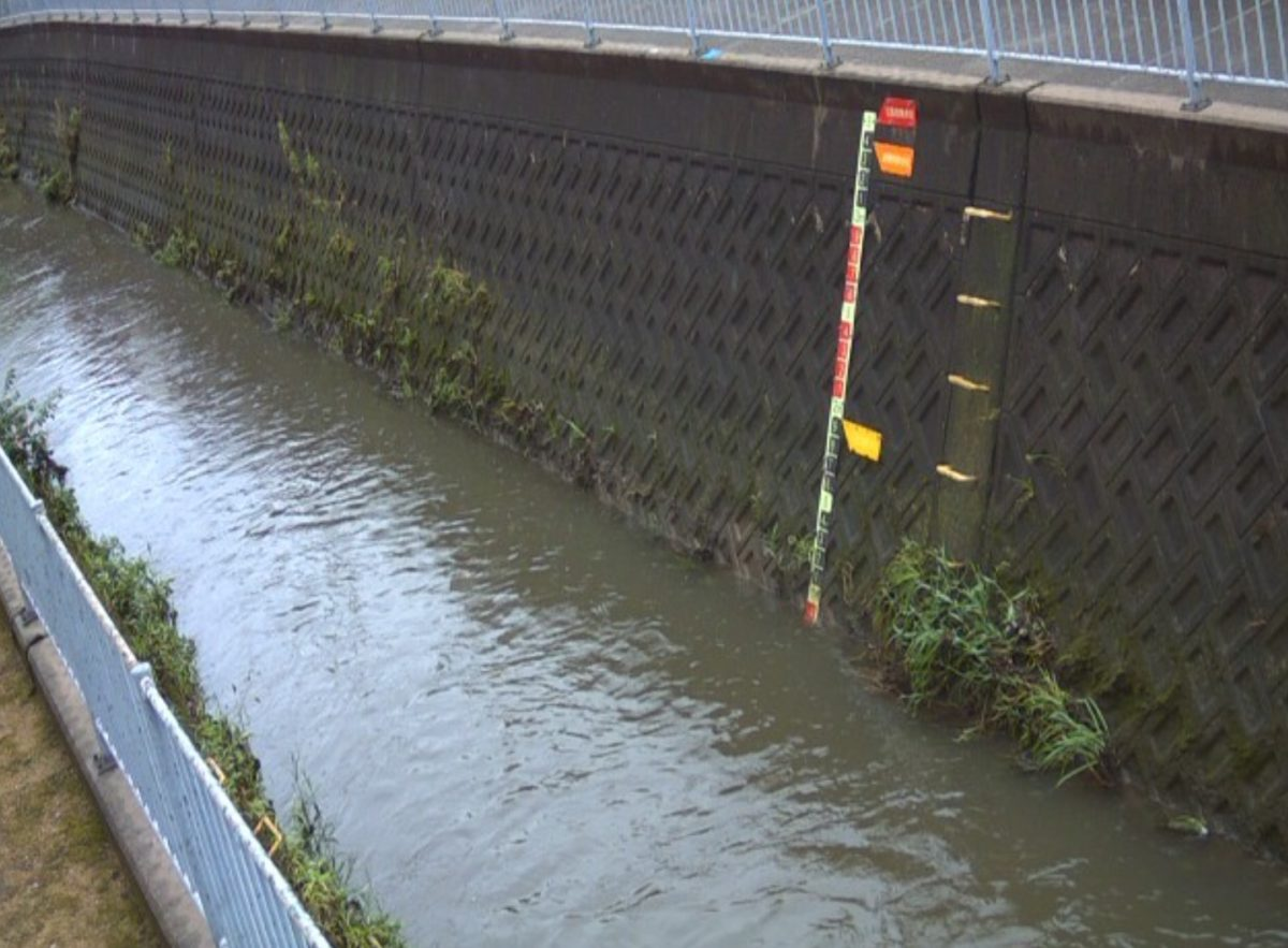 平野川 ライブカメラ(太子橋)と雨雲レーダー/大阪府八尾市