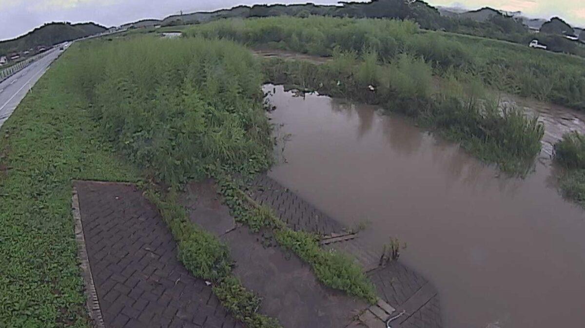 法勝寺川・境ライブカメラと雨雲レーダー/鳥取県南部町境