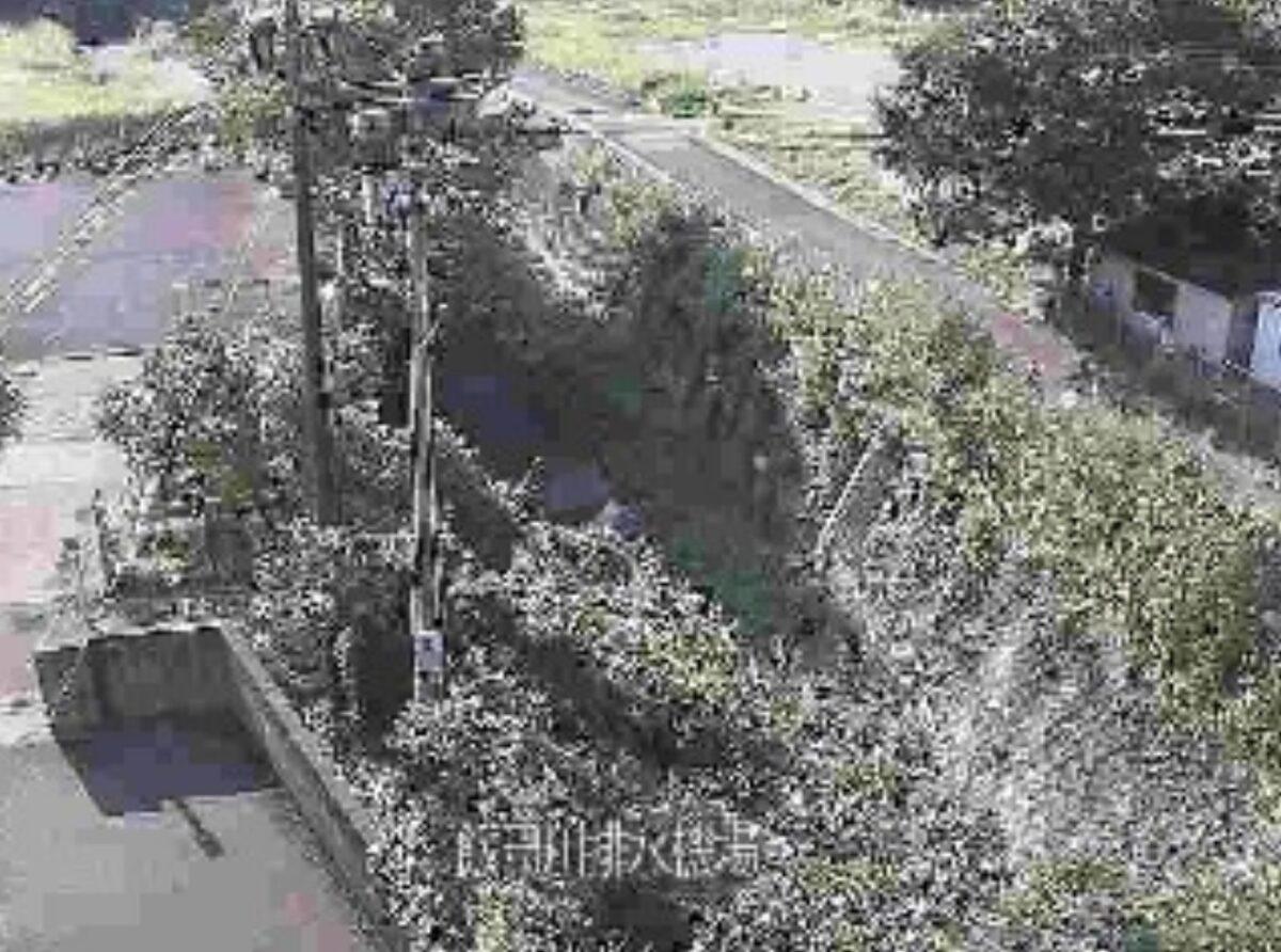 飯田川・飯田川排水機場ライブカメラと雨雲レーダー/宮崎県宮崎市高岡町飯田
