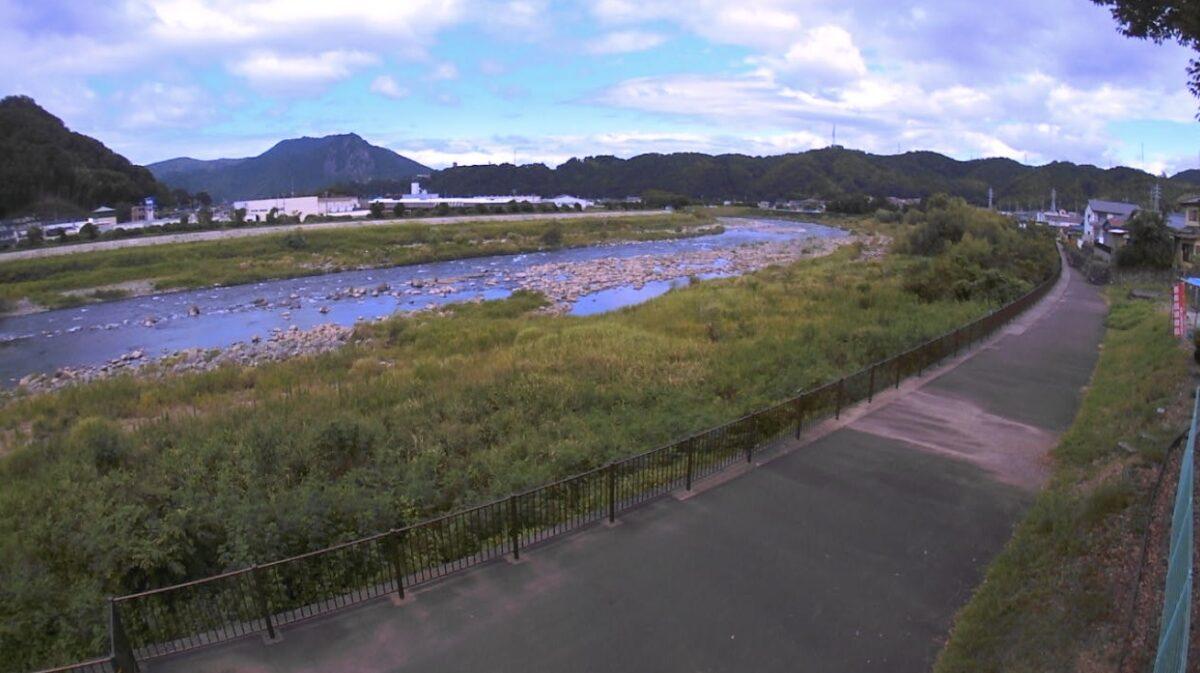 狩野川・古川合流点付近ライブカメラと雨雲レーダー/静岡県伊豆市牧之郷