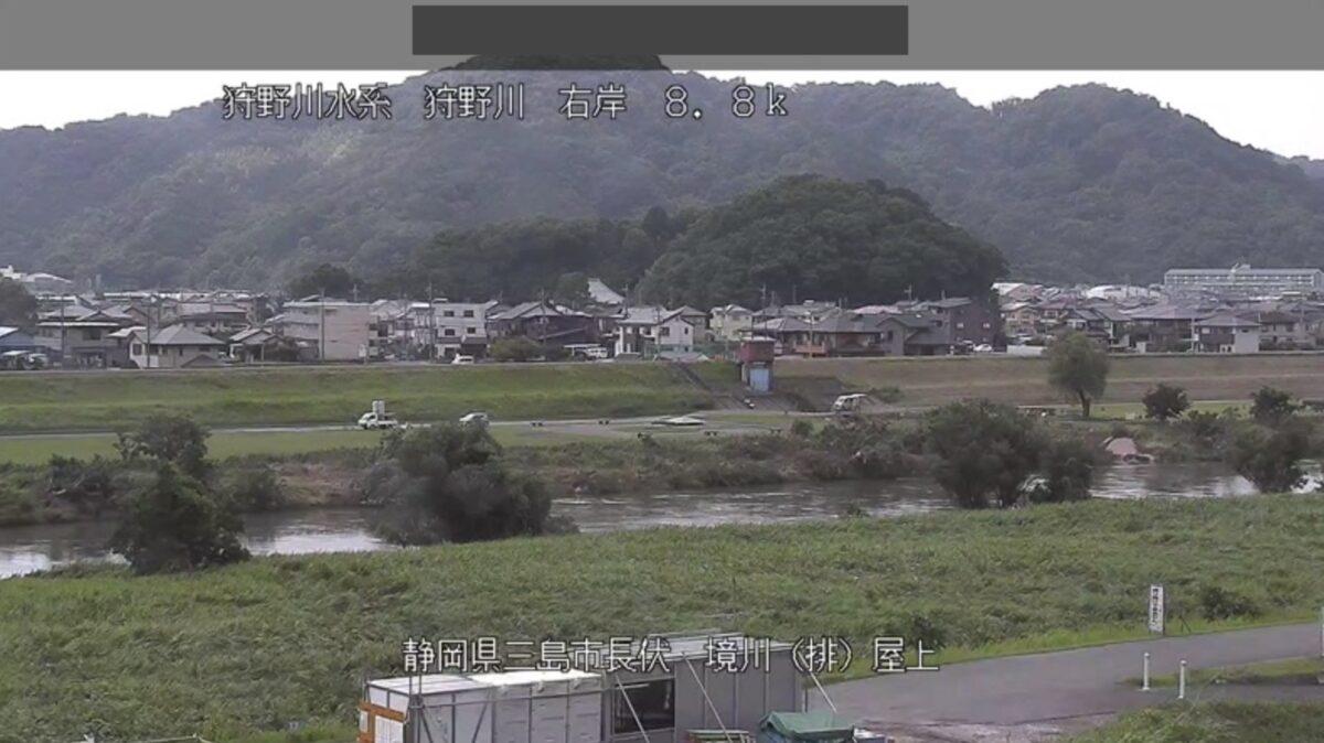 狩野川・境川排水機場ライブカメラと雨雲レーダー/静岡県三島市長伏