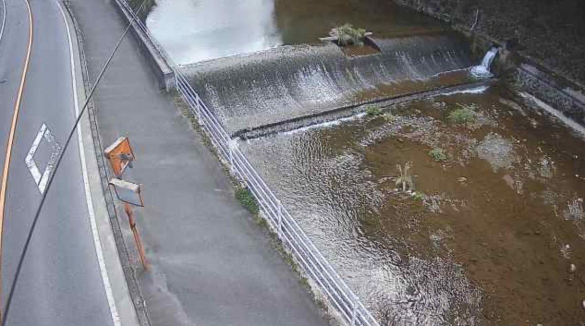 河内川 ライブカメラ(下河内地内)と雨雲レーダー/岡山県真庭市