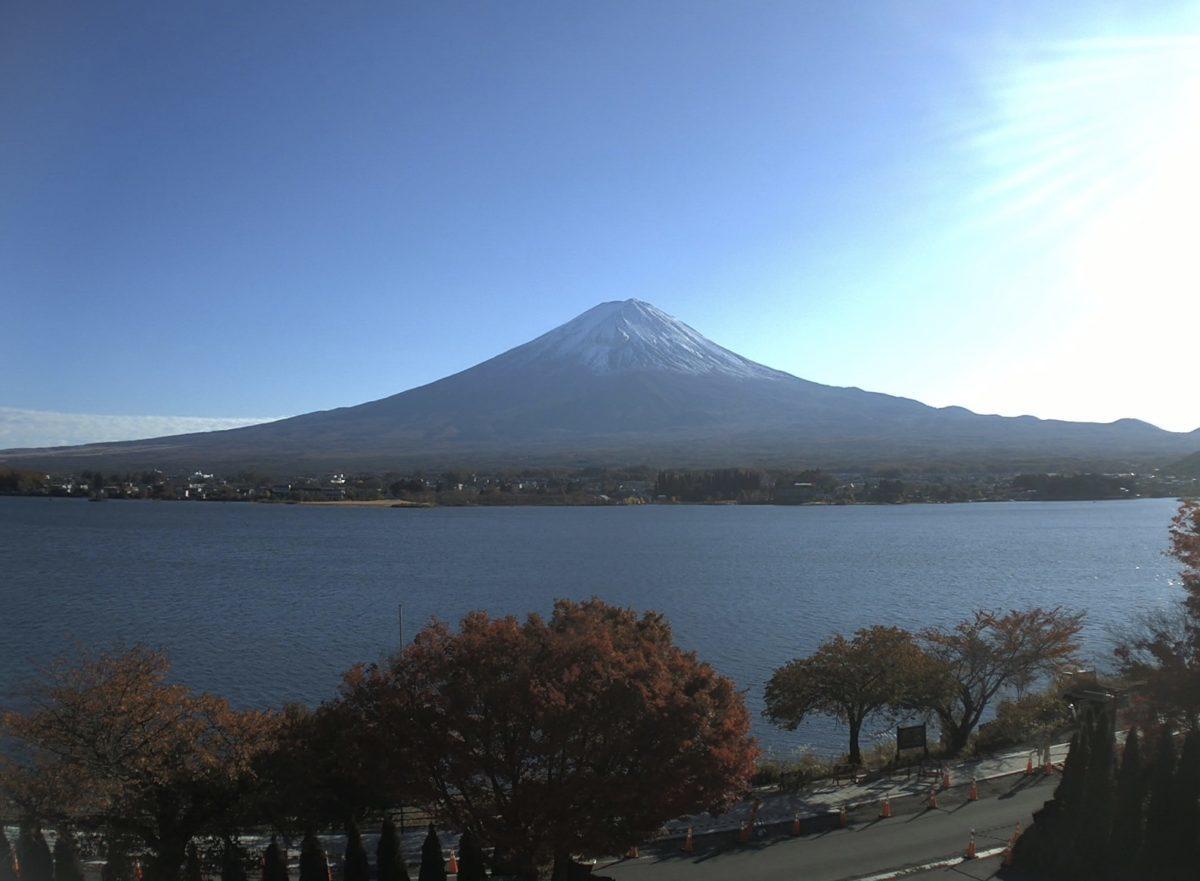 富士山・河口湖 ライブカメラ(UTYテレビ山梨)と雨雲レーダー/山梨県富士河口湖町