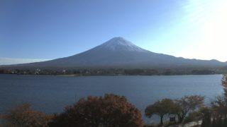 河口湖・富士山 ライブカメラ(UTYテレビ山梨)と雨雲レーダー/山梨県富士河口湖町
