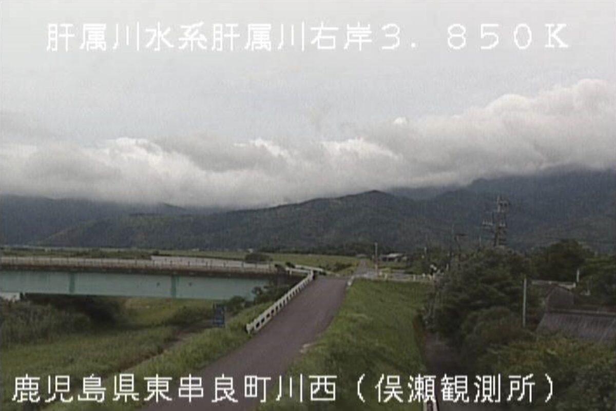 肝属川・俣瀬橋ライブカメラと雨雲レーダー/鹿児島県東串良町