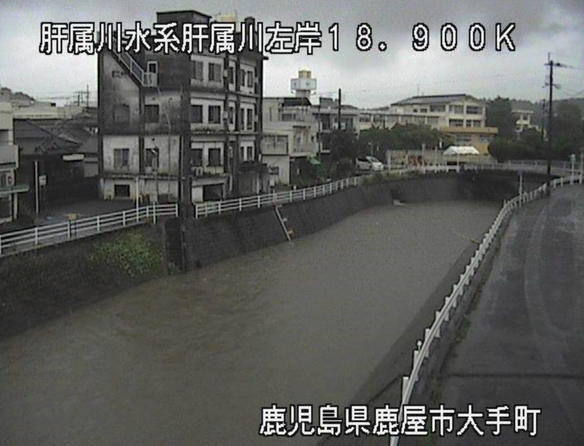 肝属川 ライブカメラ(大手町)と雨雲レーダー/鹿児島県鹿屋市