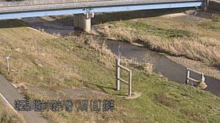 小畔川・八幡橋 ライブカメラ・水位と雨雲レーダー/埼玉県川越市