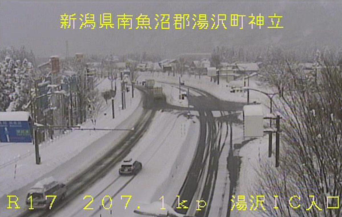 国道8号・17号・116号 ライブカメラ(雪道情報)と雨雲レーダー/新潟県