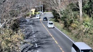 国道135号・梅ノ木平 ライブカメラ(熱海方面)と雨雲レーダー/静岡県伊東市