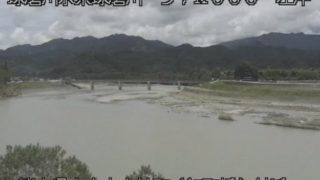 球磨川 ライブカメラ(中神 紅取橋)と雨雲レーダー/熊本県人吉市