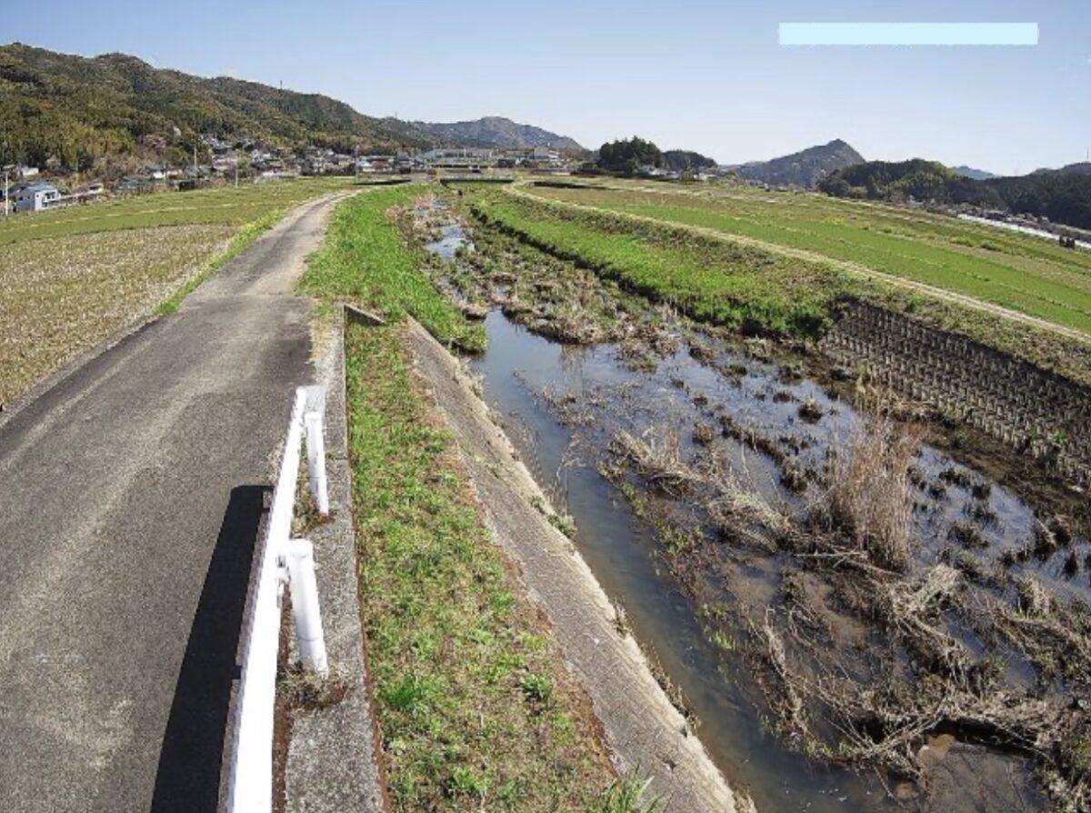 日下川・駅前橋ライブカメラと雨雲レーダー/高知県佐川町加茂