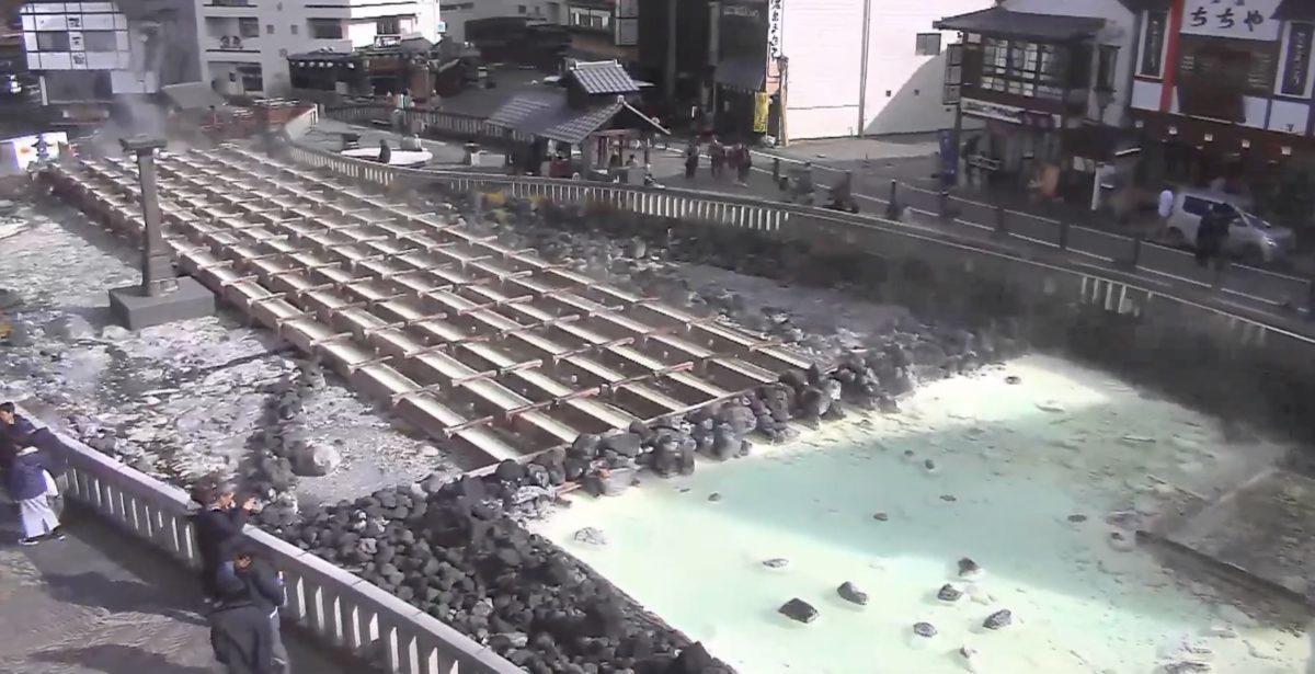 草津温泉 湯畑 ライブカメラと雨雲レーダー/群馬県草津町