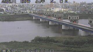 馬淵川・鉄塔ライブカメラと雨雲レーダー/青森県八戸市石堂