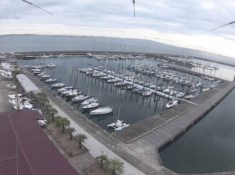 淡輪ヨットハーバー(大阪湾)ライブカメラと雨雲レーダー/大阪府岬町