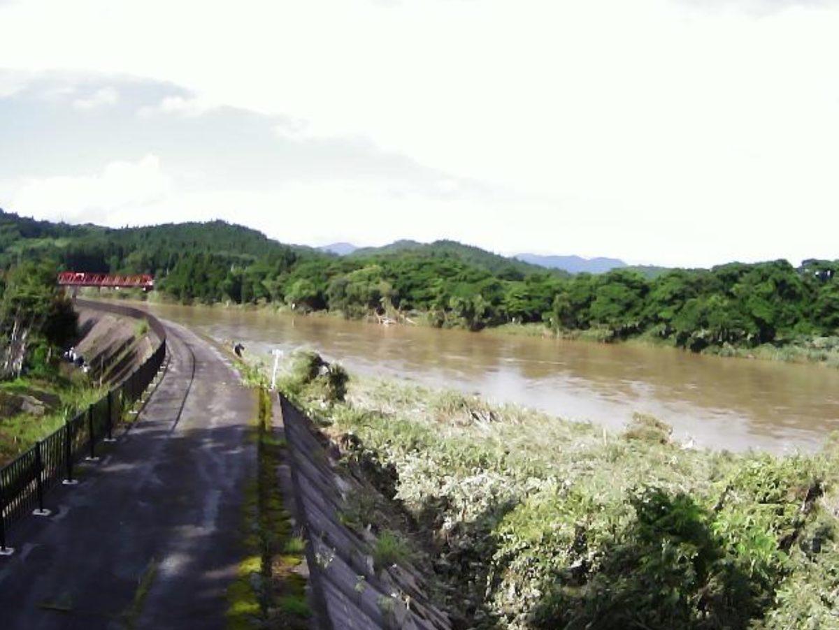 最上川 ライブカメラ(毒沢)と雨雲レーダー/山形県尾花沢市