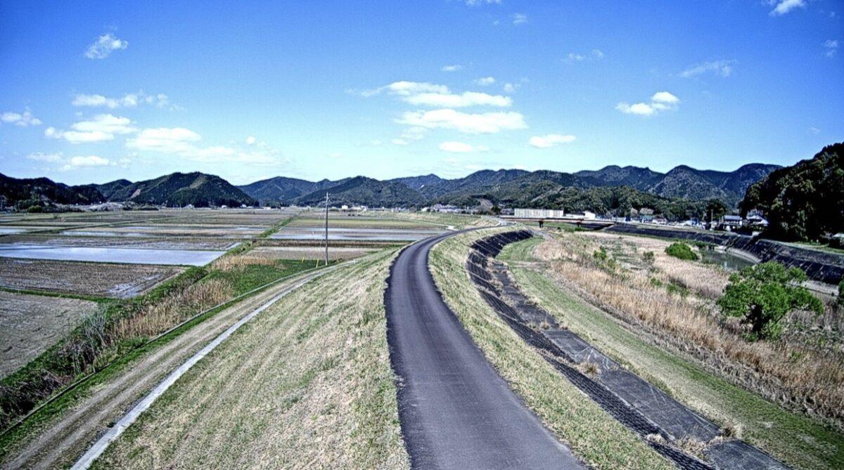 中筋川・森沢ライブカメラと雨雲レーダー/高知県四万十市森沢