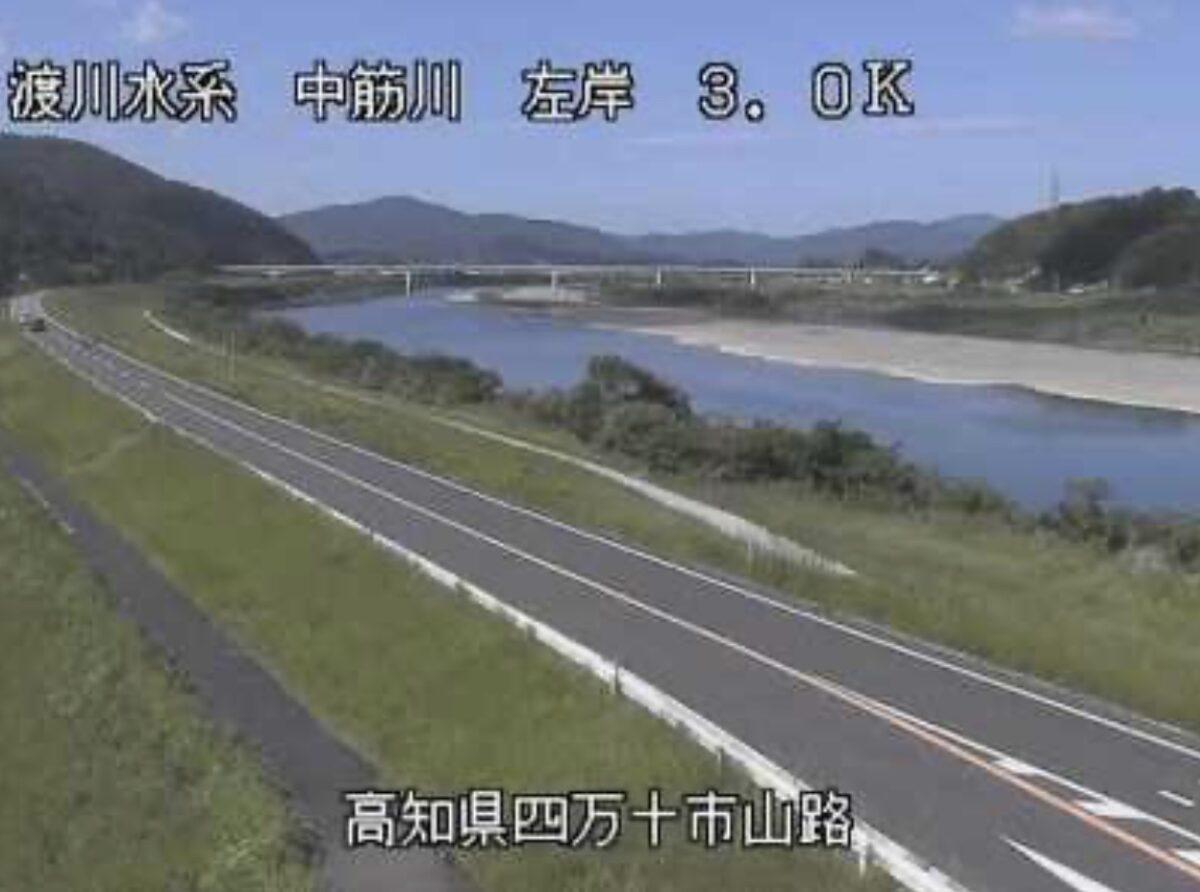 中筋川・山路ライブカメラと雨雲レーダー/高知県四万十市山路