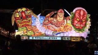 青森ねぶた祭り ライブカメラ(東奥日報社)と気象レーダー/青森県青森市