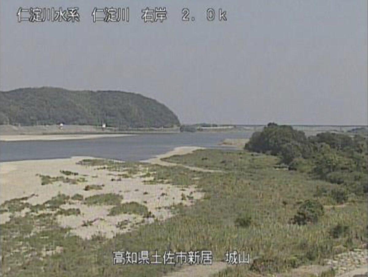 仁淀川・城山ライブカメラと雨雲レーダー/高知県土佐市新居