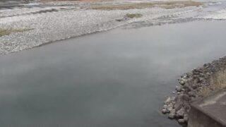 仁淀川・日下川放水路吐口ライブカメラと雨雲レーダー/高知県いの町大内