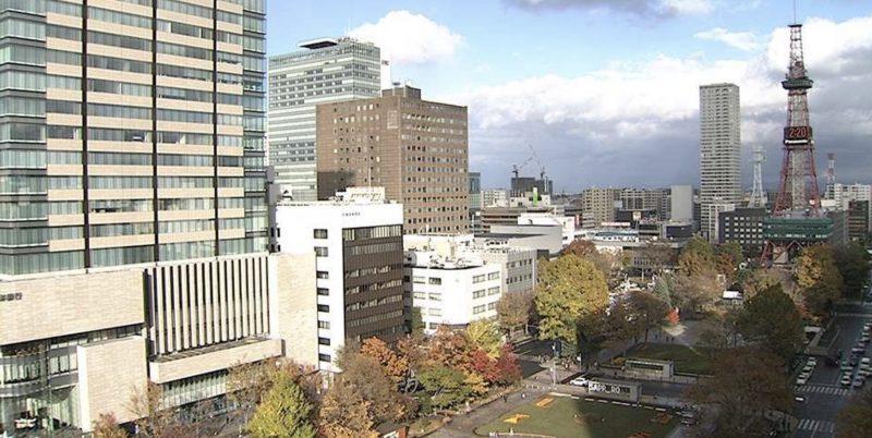 大通公園 ライブカメラ(西4丁目)(STV)と雨雲レーダー/北海道札幌市