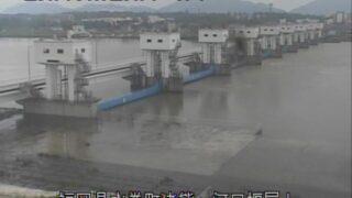 遠賀川河口堰屋上ライブカメラと雨雲レーダー/福岡県水巻町猪熊