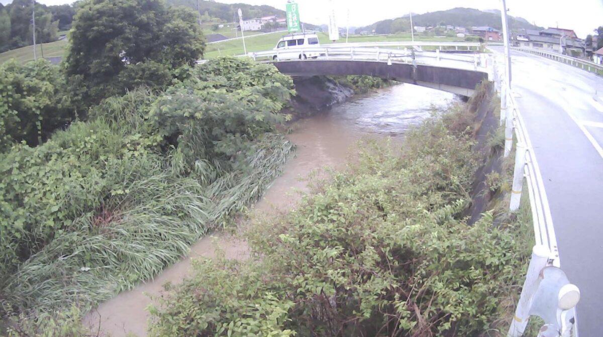 大草川・新上中橋ライブカメラと雨雲レーダー/広島県三原市大和町