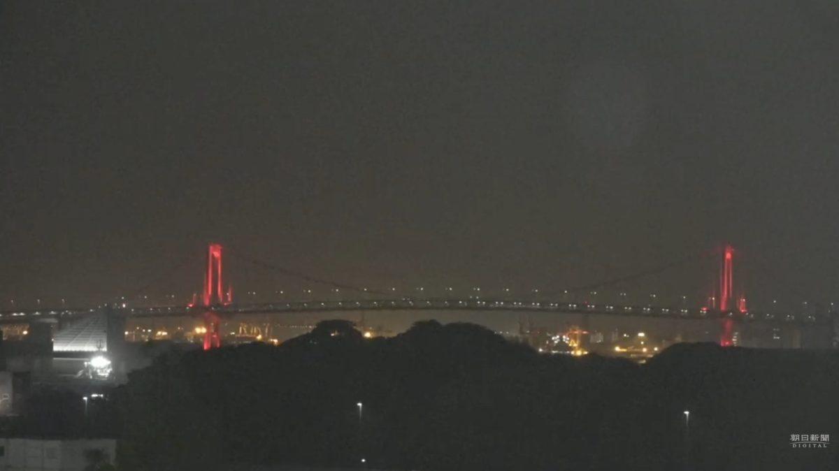 レインボーブリッジ ライブカメラ(朝日新聞社)と雨雲レーダー/東京都中央区