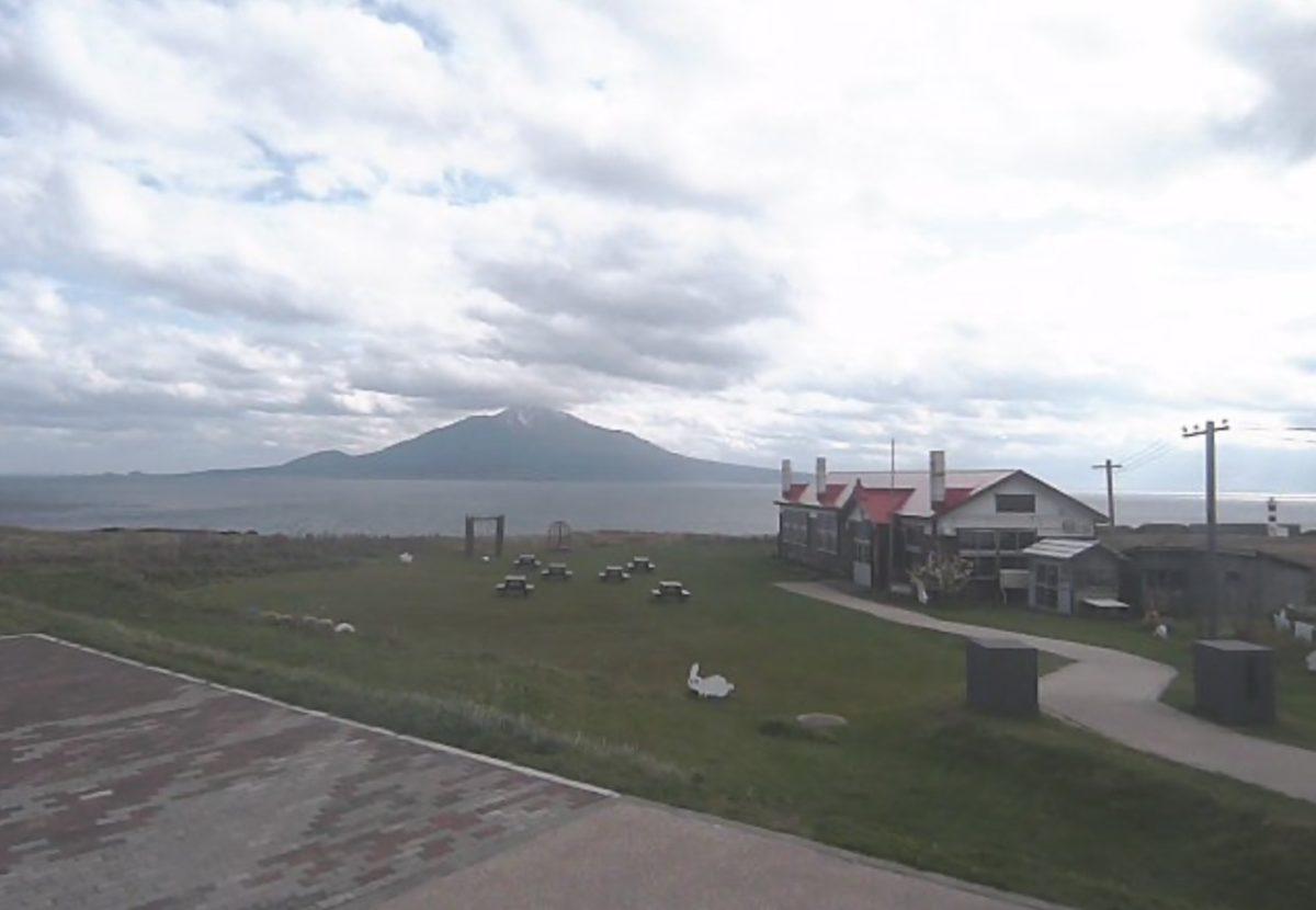 利尻富士(利尻山) ライブカメラ(礼文島)と雨雲レーダー/北海道礼文町