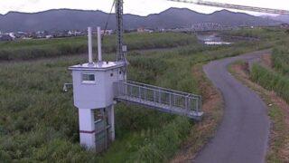 六角川・西古川排水機場ライブカメラと雨雲レーダー/佐賀県江北町八町