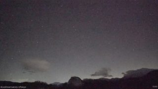 こと座流星群 空模様と星 ライブカメラ(木曽観測所)と雨雲レーダー/長野県木曽町