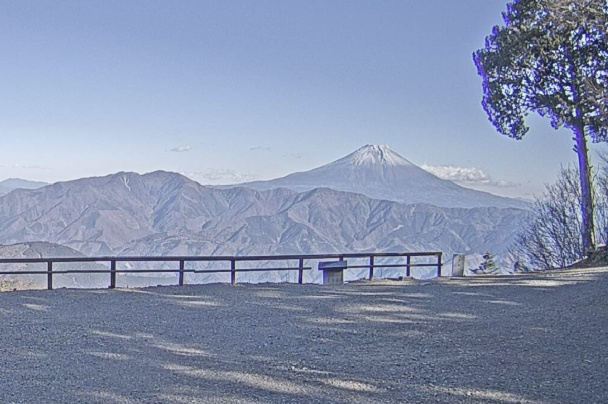 富士山 ライブカメラ(七面山から)と雨雲レーダー/山梨県身延町