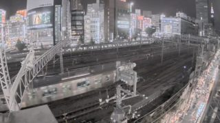鉄道 ライブカメラ(新宿駅近く)と雨雲レーダー/東京都新宿区