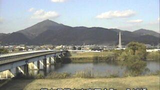 白川・八城橋ライブカメラと雨雲レーダー/熊本県熊本市南区
