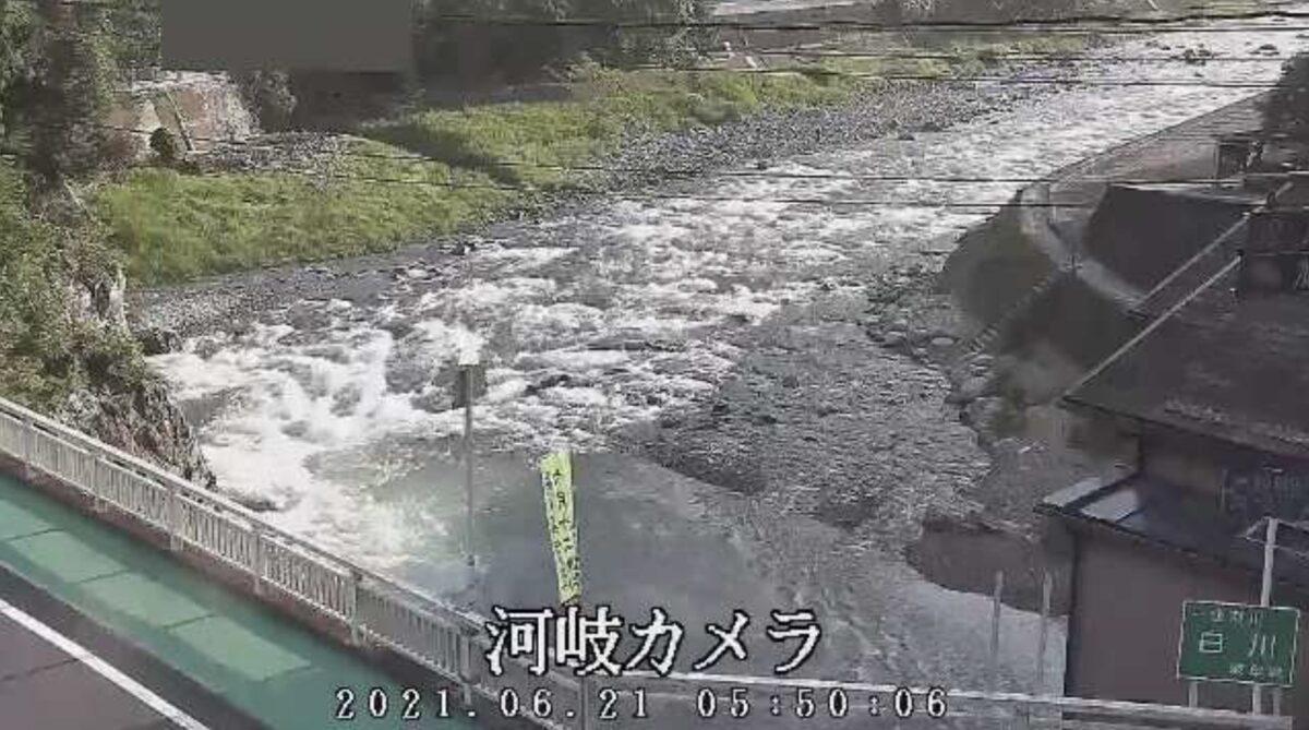 白川・河岐ライブカメラと雨雲レーダー/岐阜県白川町河岐