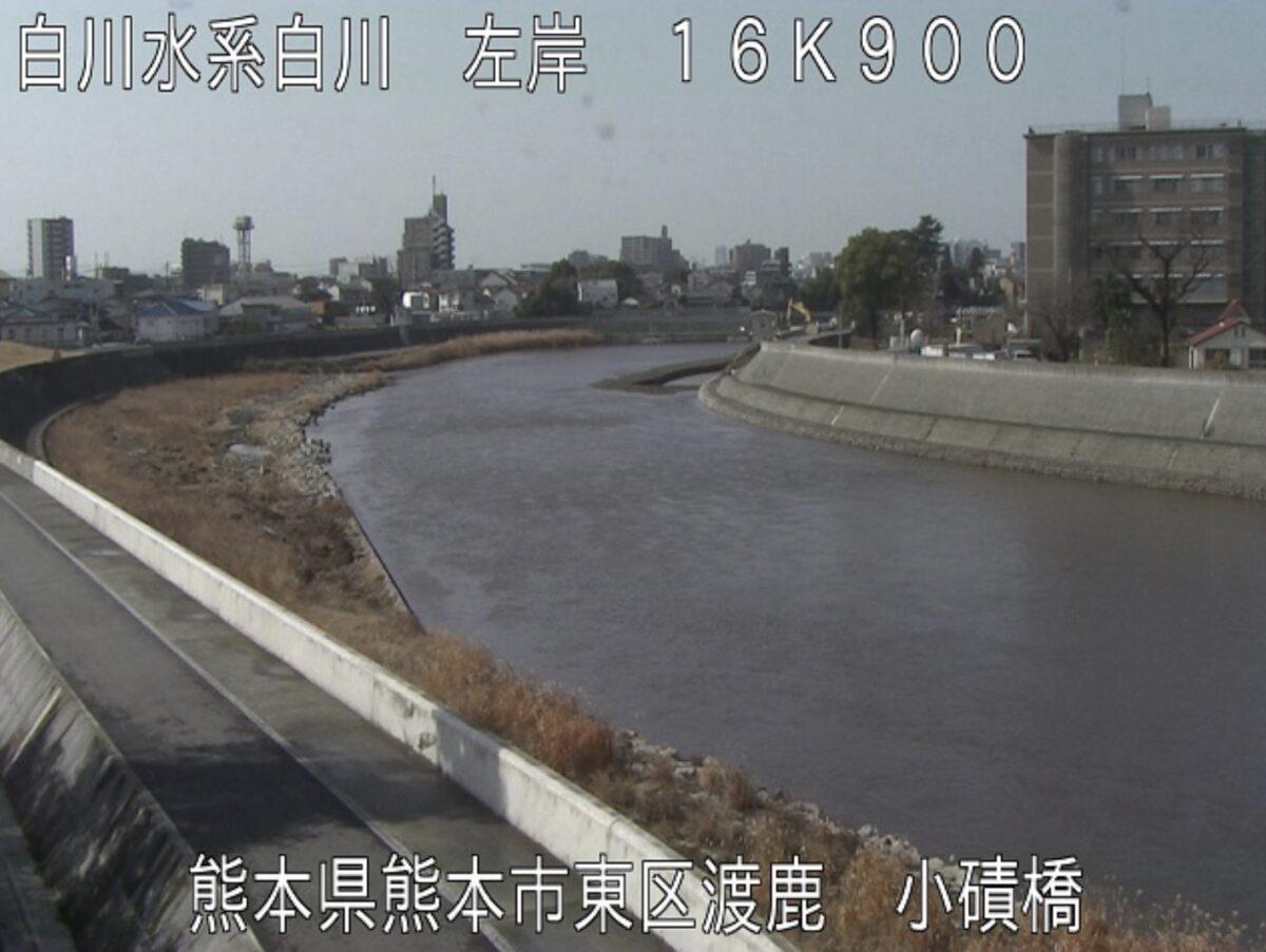白川・小磧橋ライブカメラと雨雲レーダー/熊本県熊本市東区