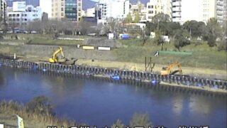 白川・代継橋ライブカメラと雨雲レーダー/熊本県熊本市中央区